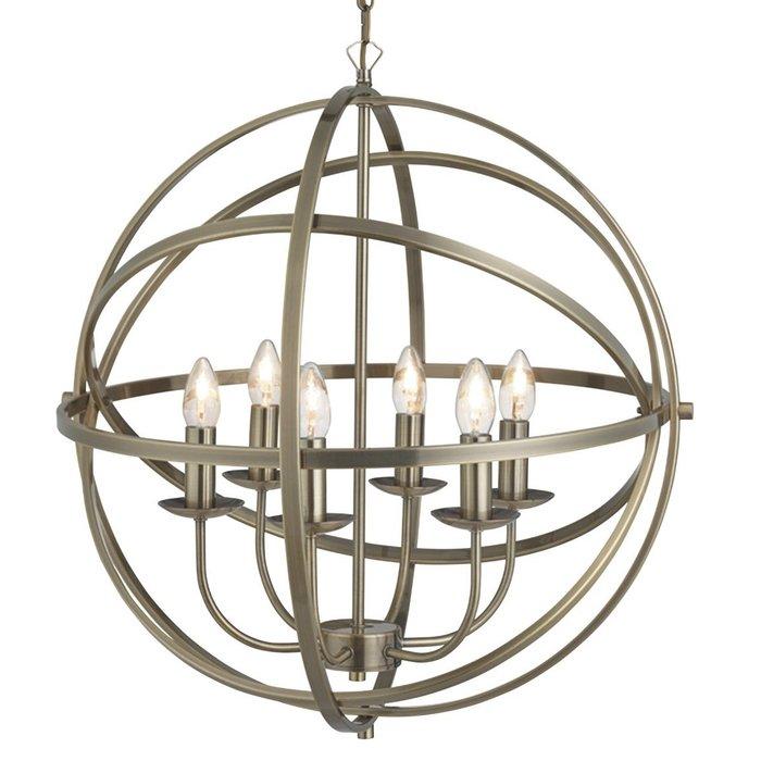 Armillary Sphere - 6 Light Feature Light - Antique Brass