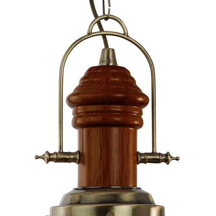 Dark Wood & Brass Fishermans Lantern