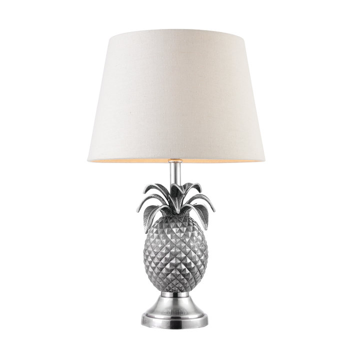 Pineapple Table Lamp - Base Only - Pewter Effect