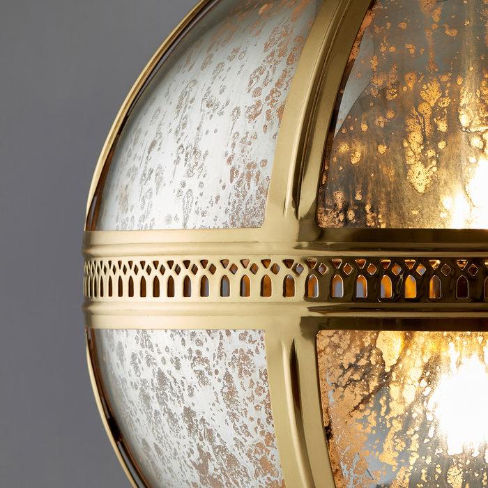Opulent Globe Pendant - Brass & Mercury Glass - Large
