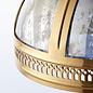Opulent Domed Pendant - Brass & Mercury Glass