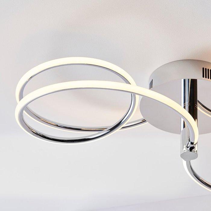 Flo - Curving LED Semi Flush Ceiling Light