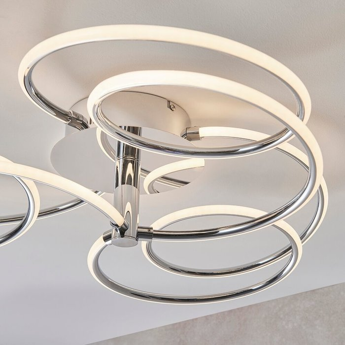 Flo - Large Curving LED Semi Flush Ceiling Light