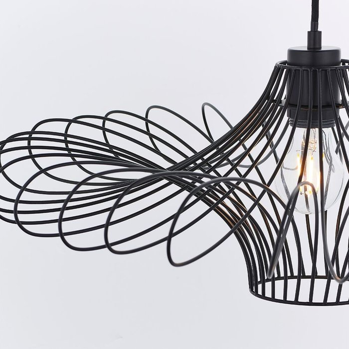 Geometric Black Wire Easy Fit Shade