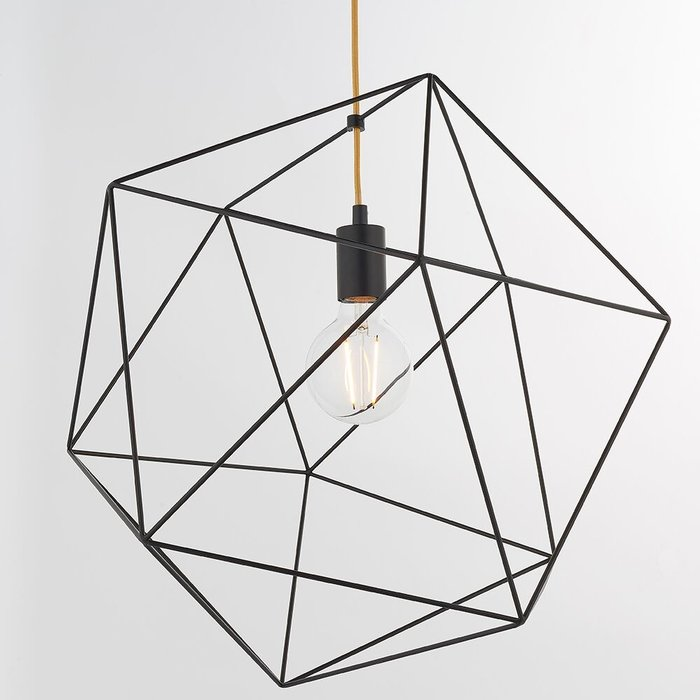 Large Geometric Pendant - Black