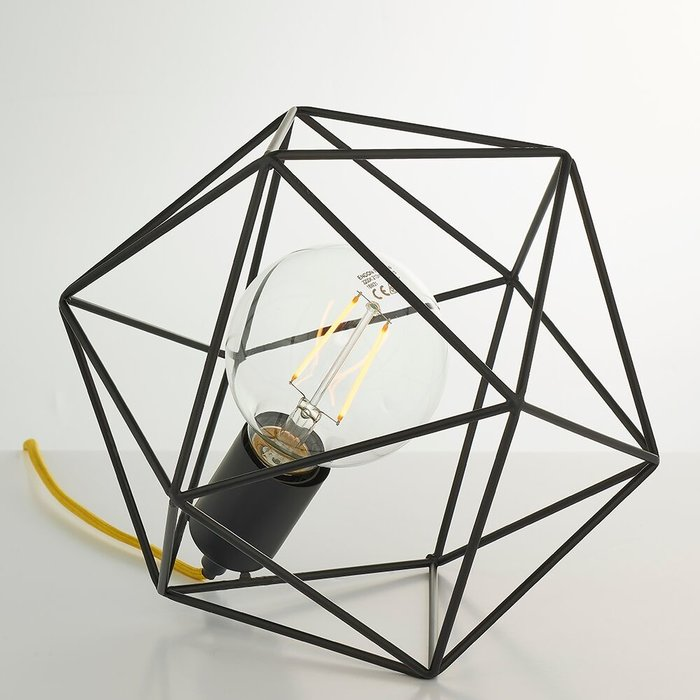 Modern Wire Cage Table Lamp