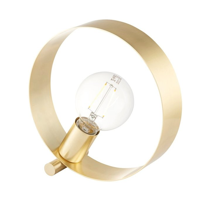 Hoop - Brushed Brass Minimalist Table Lamp