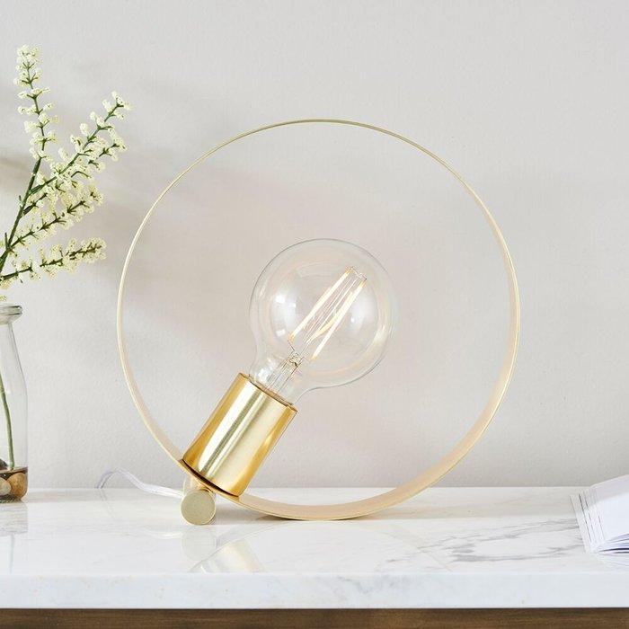 Hoop - Brushed Brass Minimalist Table Lamp