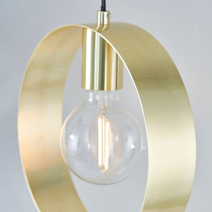 Hoop - Brushed Brass Minimalist Pendant