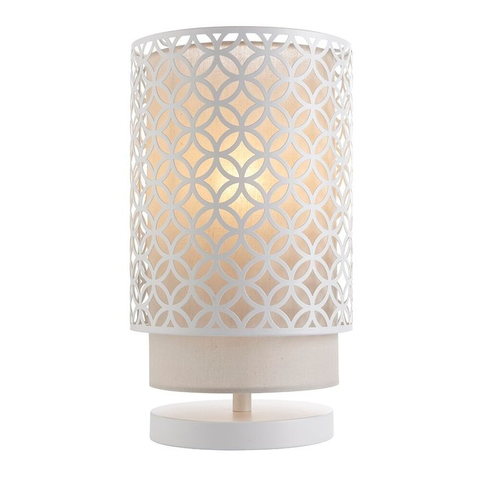 Cage Table Lamp Aged Copper Amp Grey Fabric Lightbox