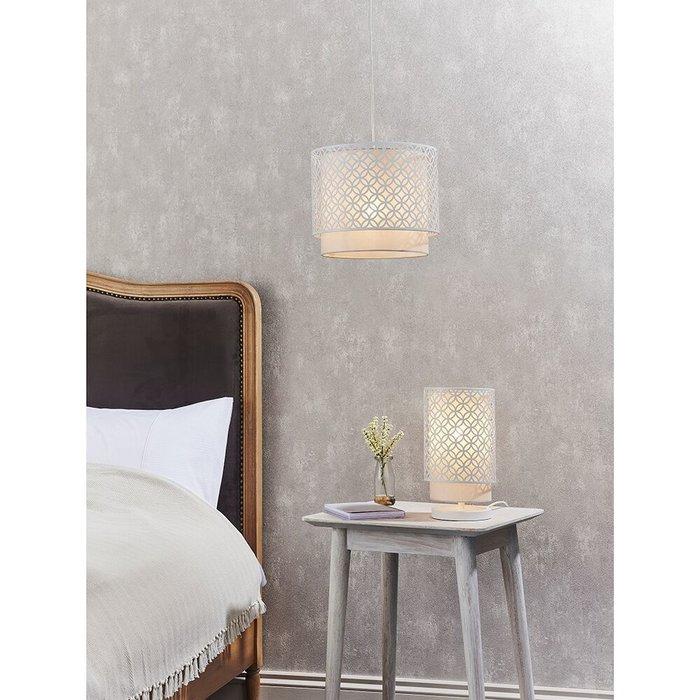 Chalk White & Grey Table Lamp