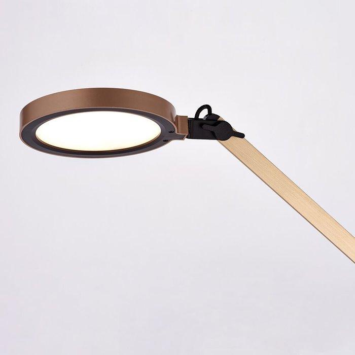 Matt Gold & Black LED Reading Lamp