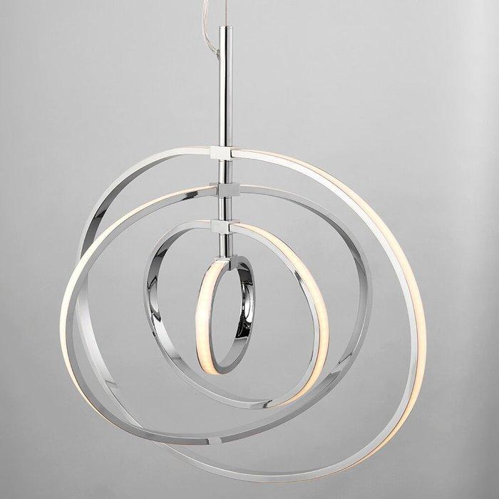 LED Hoop Feature Pendant - Polished Chrome