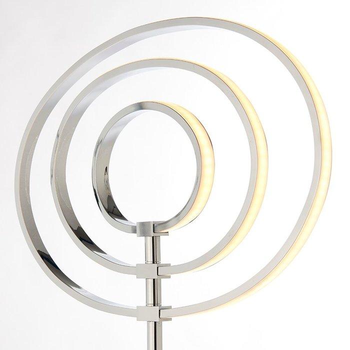 LED Hoop Floor Lamp - Polished Chrome