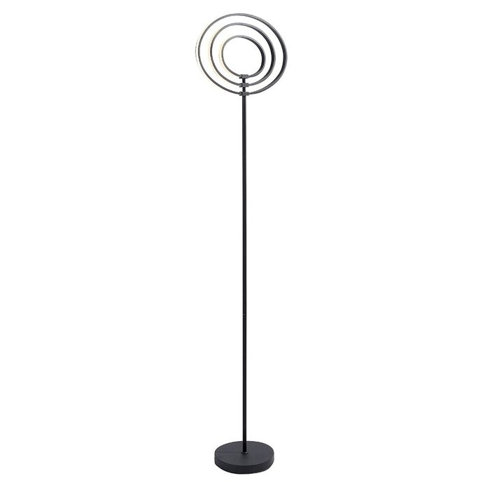 LED Hoop Floor Lamp - Black