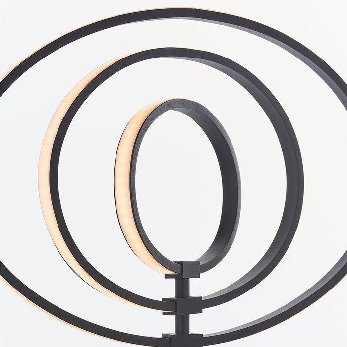 LED Hoop Floor Lamp - Black