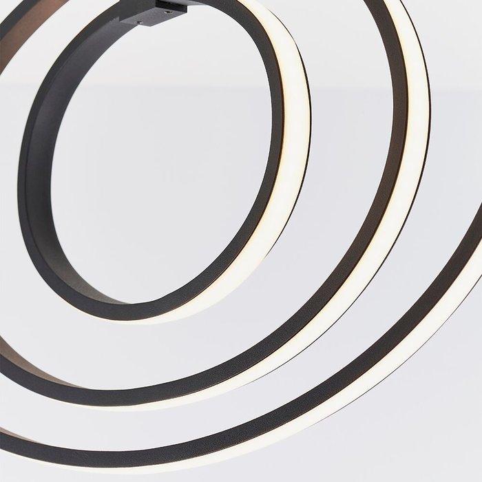 LED Hoop Semi Flush Ceiling Light - Black