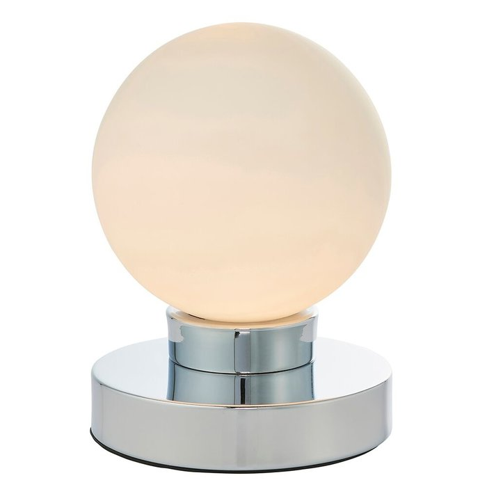 Chrome Globe Table Lamp