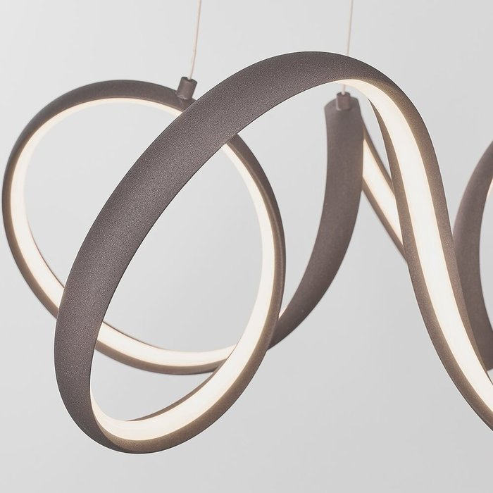 Organic LED Feature Pendant - Textured Coffee Finish - Small