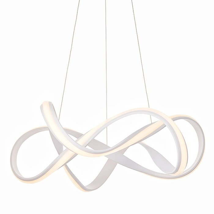 Organic LED Feature Pendant - Sand White - Large