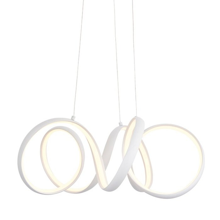 Organic LED Feature Pendant - Sand White - Small
