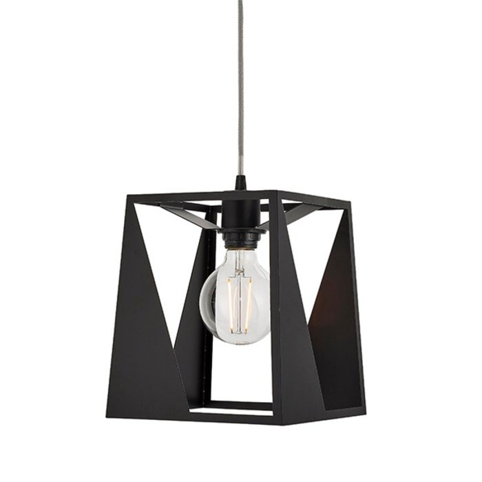 Urban Cut Out Black Pendant