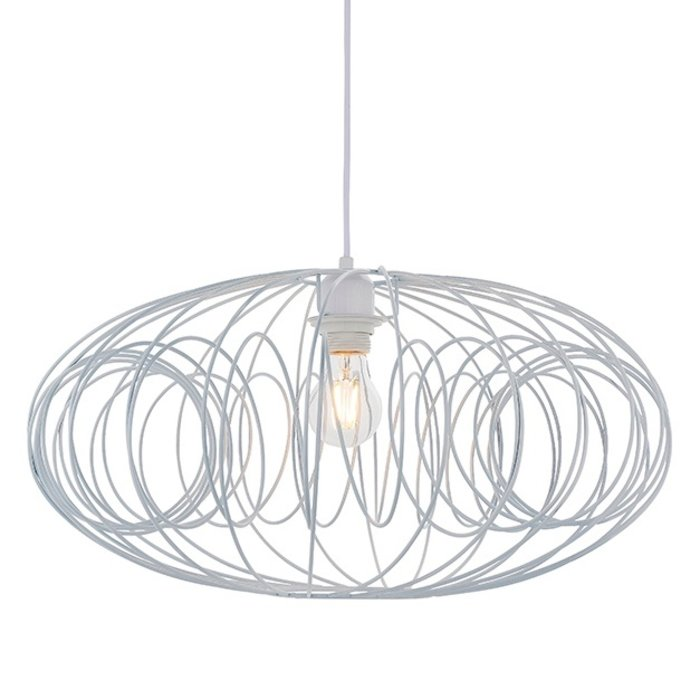 Loop - Matt White Wire Easy Fit Shade
