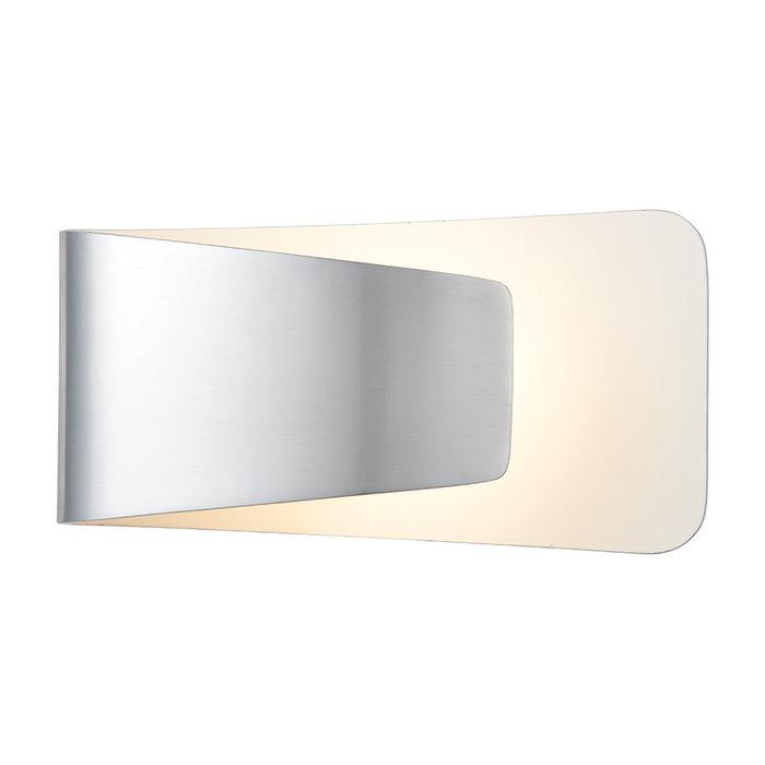 Polished Aluminium & White Modern LED Wall Light