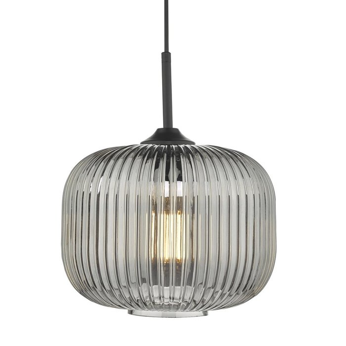 Dusk - Smoked Ribbed Glass Modern Pendant Light
