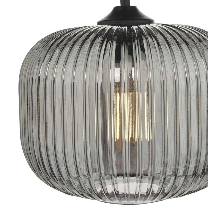 Dusk - Smoked Ribbed Glass Modern Pendant Light