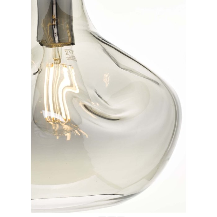 Organic Smoked Glass Pendant