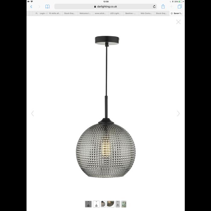 Sio - Matt Black & Opal Glass Table Lamp