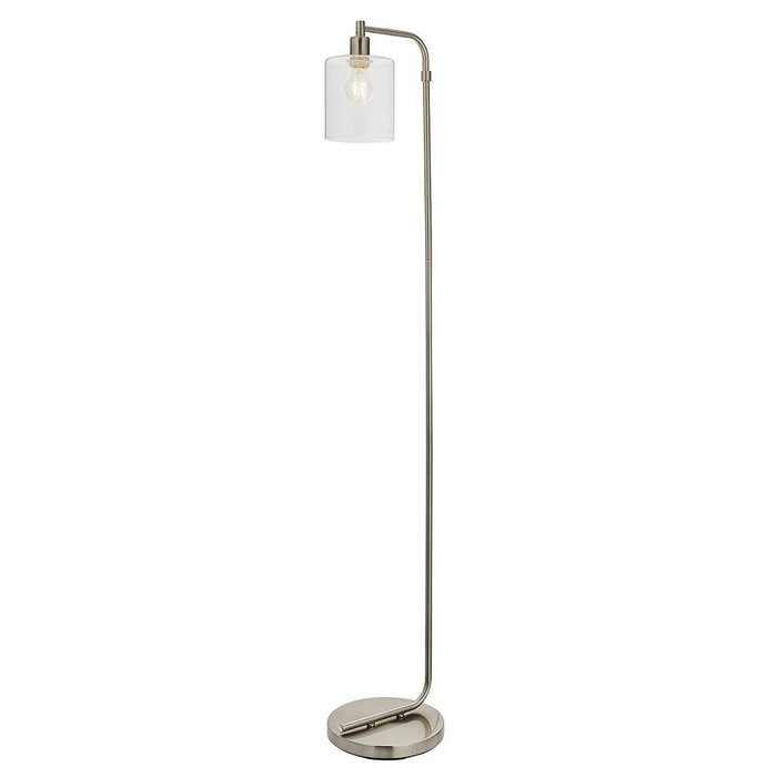 Niko - Minimalist Floor Lamp - Brushed Nickel