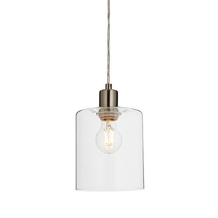 Niko - Contemporary Glass & Brushed Nickel Pendant