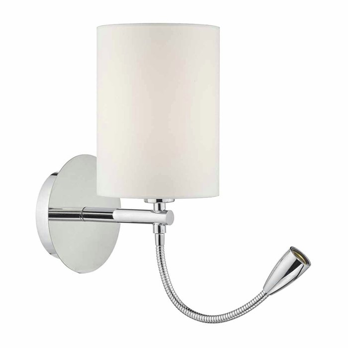 Hotel - LED Dual Light Bedside Reader Wall Light - Polished Chrome