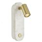 Gobie - White Marble & Brass Wall Light
