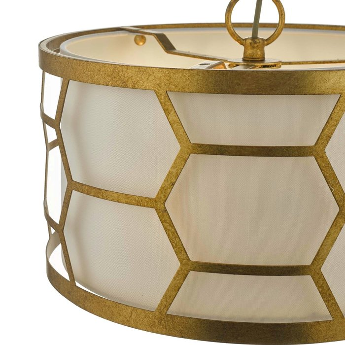 Esteem - Modern Gold Leaf Drum Feature Light
