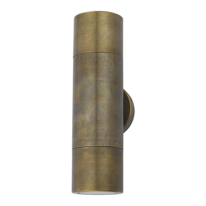 Ortex - Solid Aged Brass Up & Down Outdoor Wall Light