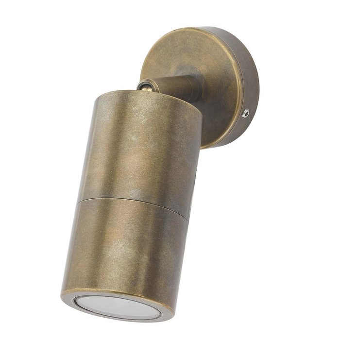 Ortex Single - Brass Outdoor Spotlight