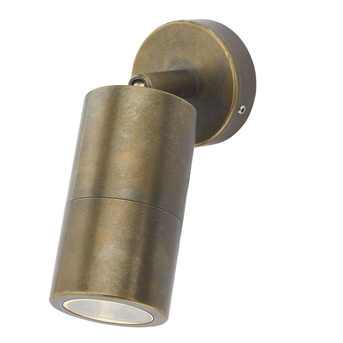 Ortex Single - Brass Outdoor Spotlight