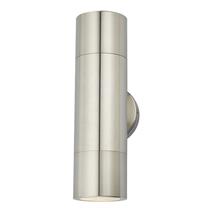 Ortex - Brushed Aluminium Outdoor Up & Down Wall Light