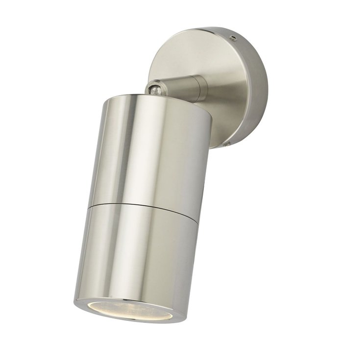 Ortex - Brushed Aluminium Outdoor Down Wall Light