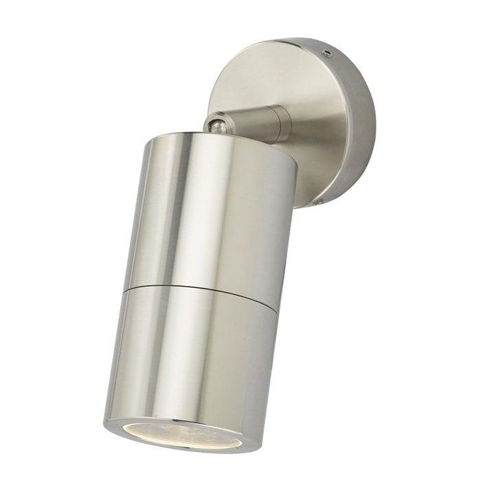 Ortex - Brushed Aluminium Outdoor Down Wall Light