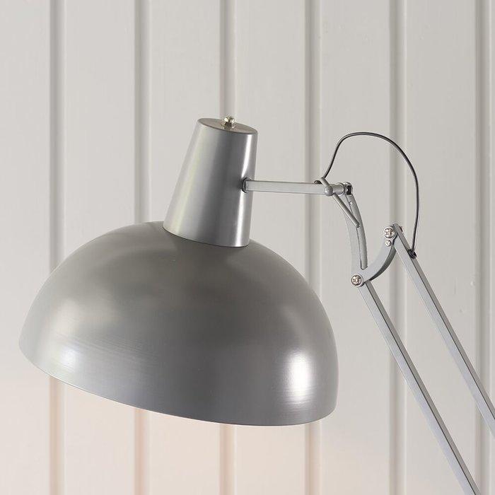 Retro Angled Floor Lamp - Grey