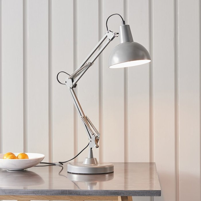 Retro Angled Table Lamp - Grey