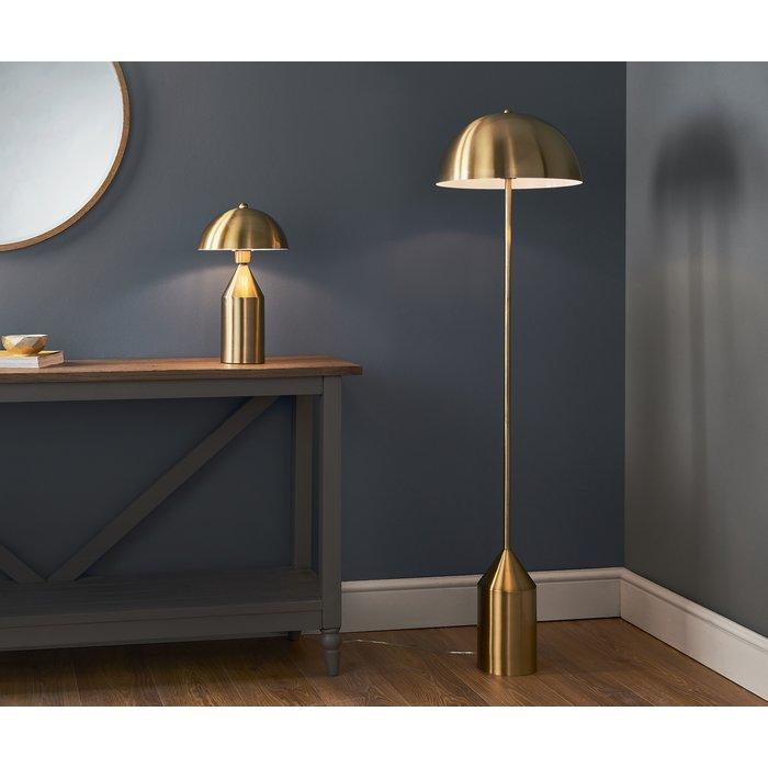 Mid Century Brass Dome Floor Lamp