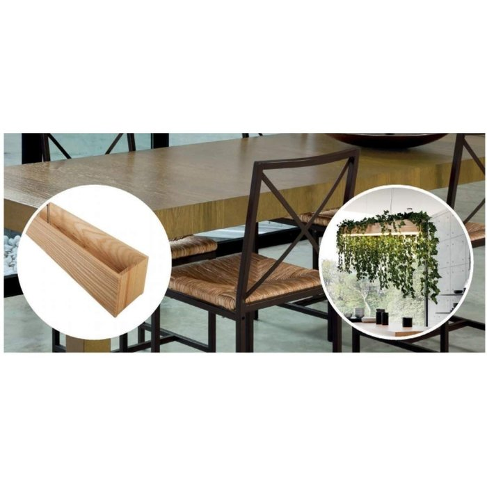 Natural Wood Bar Pendant