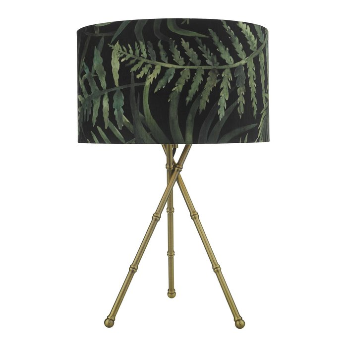 Bamboo Table Lamp - Antique Brass