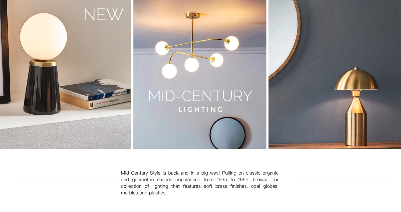 Mid century lighting