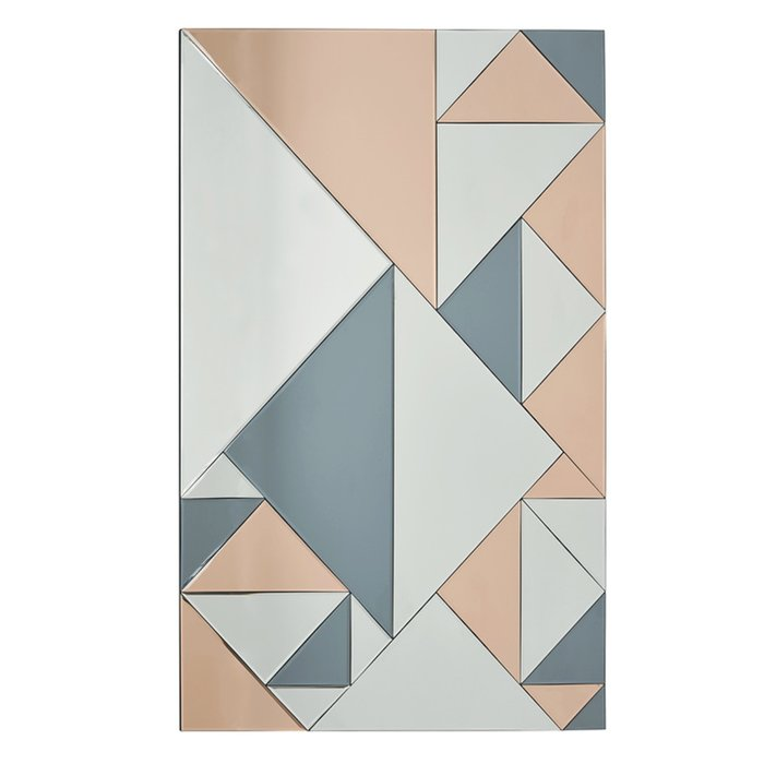 Hera - Smoked & Rose Gold Rectangular Mirror